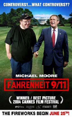 Fahrenheit 9/11 promotional poster
