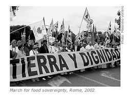 March for food sovereignty, Rome, 2002
